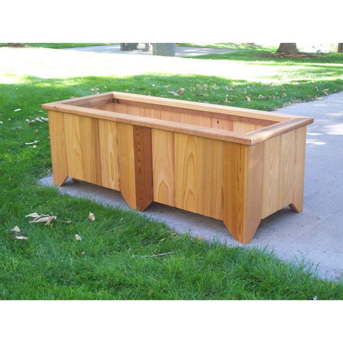 Wood Country Wood Country Cedar Planter Box #6 Cedar Stain + $5.00 Planter Box WCCPB6S