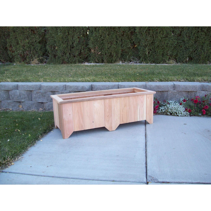 Wood Country Wood Country Cedar Planter Box #6 Unstained Planter Box WCCPB6