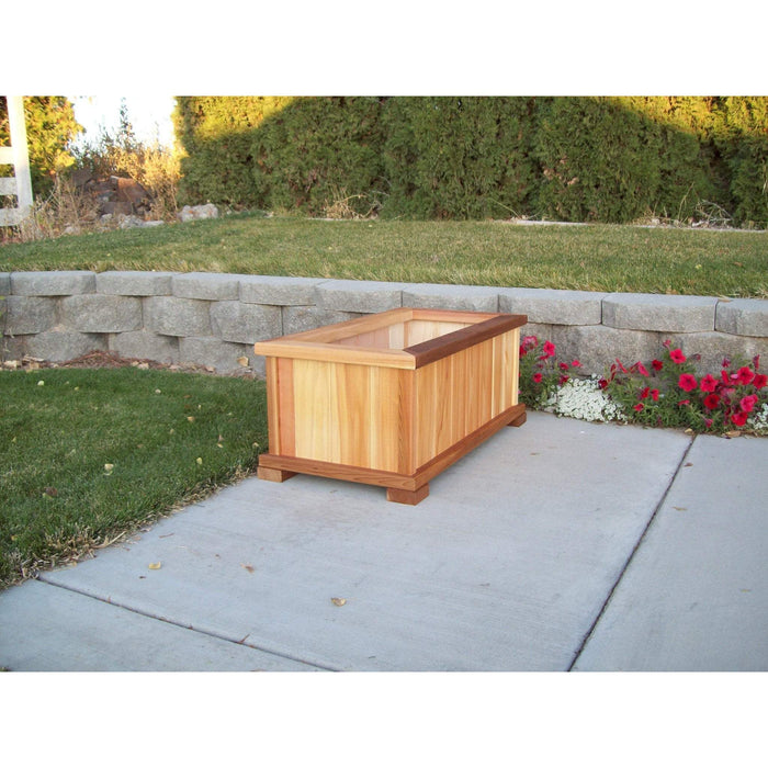 Wood Country Wood Country Cedar Rectangular Patio Planter Box Large + $20.00 / Cedar Stain + $25.00 Planter Box WCCPPBSLS