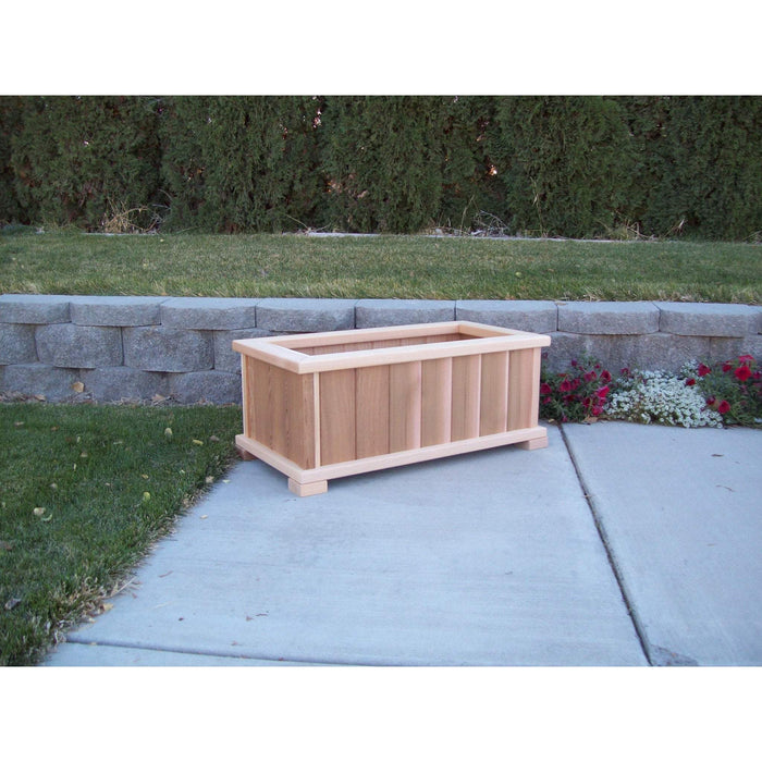 Wood Country Wood Country Cedar Rectangular Patio Planter Box Large + $20.00 / Unstained Planter Box WCCPPBSL