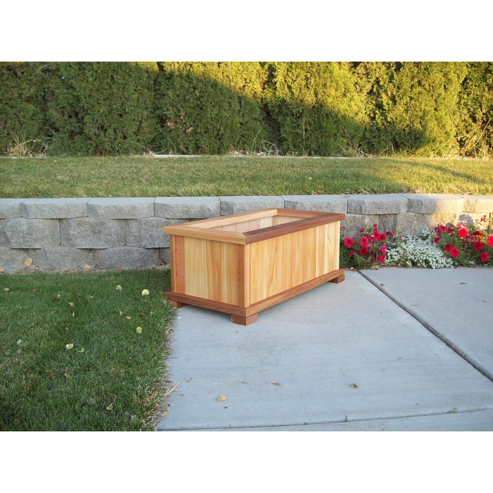 Wood Country Wood Country Cedar Rectangular Patio Planter Box Planter Box