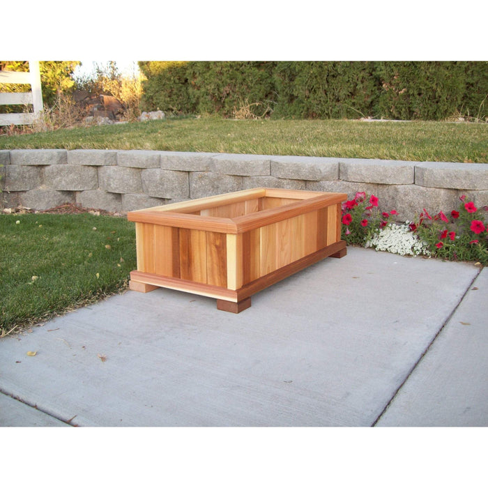 Wood Country Wood Country Cedar Rectangular Patio Planter Box Small / Cedar Stain + $25.00 Planter Box WCCPPBS