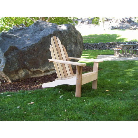 Wood Country Wood Country Idaho Red Cedar Adirondack Chair Unstained Adirondack Chair WCIACU