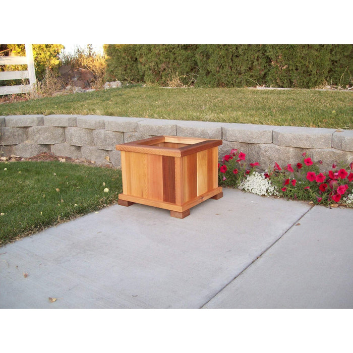 Wood Country Wood Country Square Patio Planter Large + $30.00 / Stained + $6.00 Planter Box WCPPLS