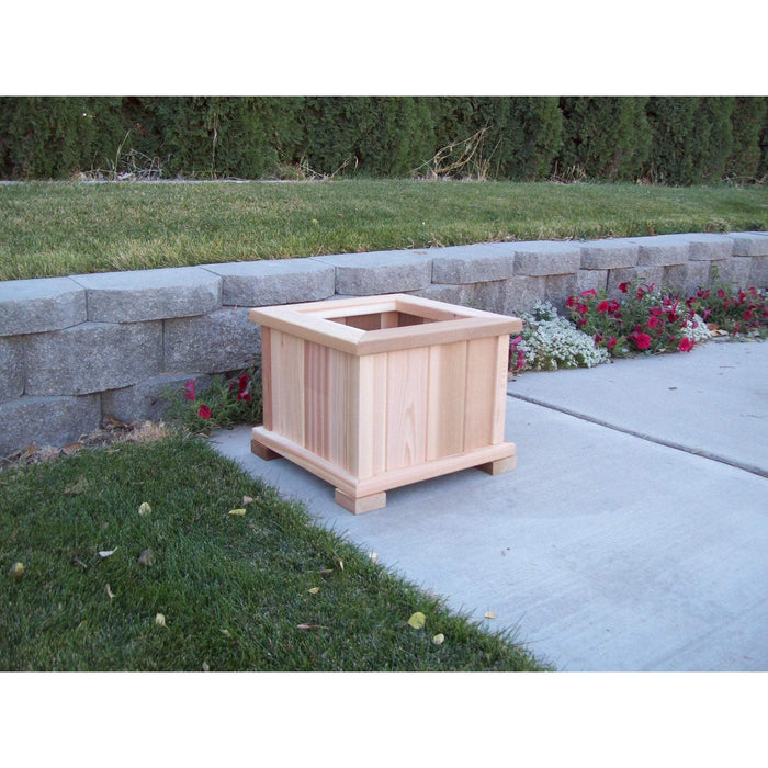 Wood Country Wood Country Square Patio Planter Large + $30.00 / Unstained Planter Box WCPPLU