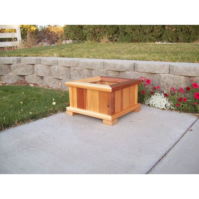 Wood Country Wood Country Square Patio Planter Small / Stained + $6.00 Planter Box WCPPS
