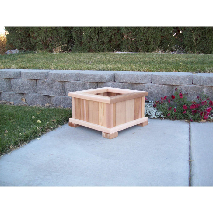 Wood Country Wood Country Square Patio Planter Small / Unstained Planter Box WCPPU