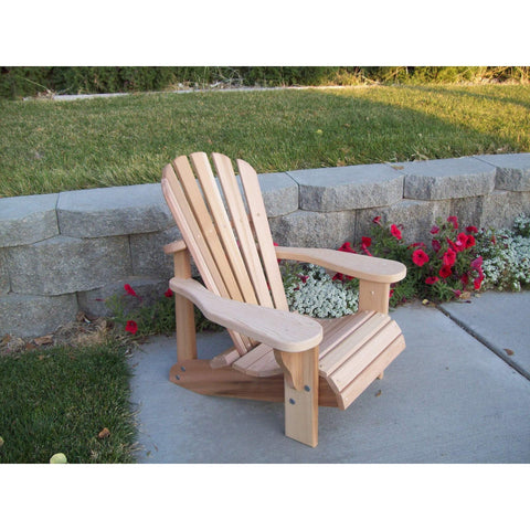 Wood Country Wood Country T&L Red Cedar Child's Adirondack Chair Unstained Adirondack Chair WCCCACU