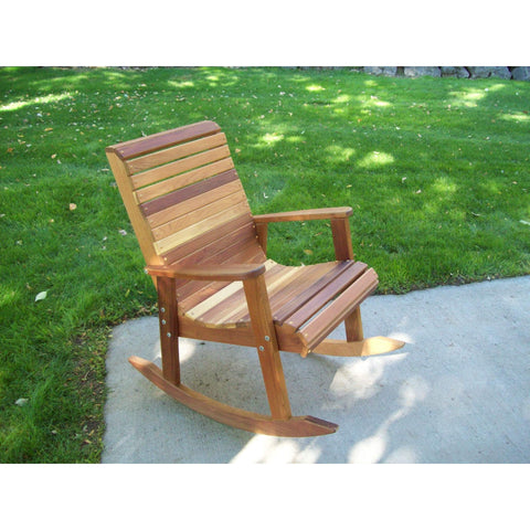 Wood Country Wood Country T&L Red Cedar Rocking Chair Stained + $20.00 Rocking Chair WCRCRCS