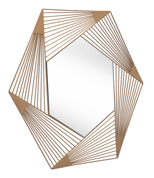 Zuo Modern Zuo Modern Aspect Hexagonal Mirror Wall Decor A12205 842896142057