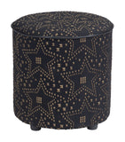 Zuo Modern Zuo Modern Constellation Ottoman Gold & Black Living A12186 842896141142