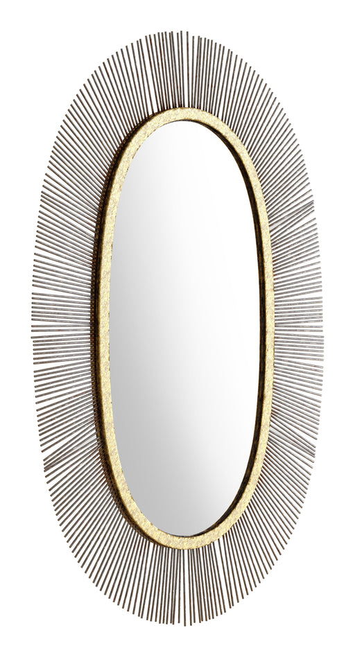 Zuo Modern Zuo Modern Juju Oval Mirror Black & Gold Wall Decor A12215 842896142453