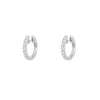 Halo diamond hoops