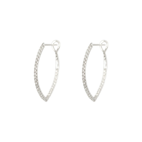 Horse Shoes diamond hoops