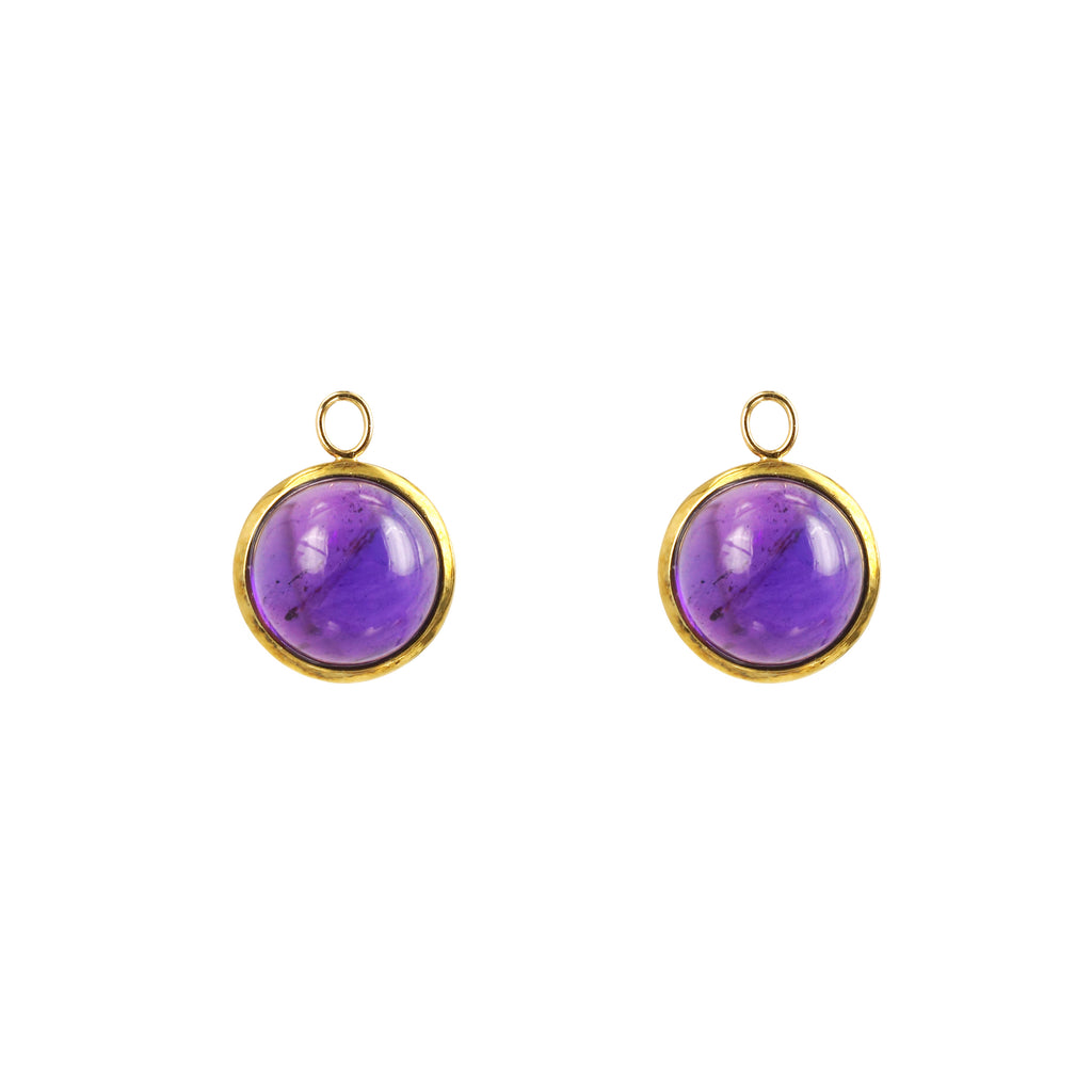 Yellow Gold Amethyst Drops