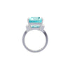 Fine quality Santa Maria Aquamarine and Diamond ring