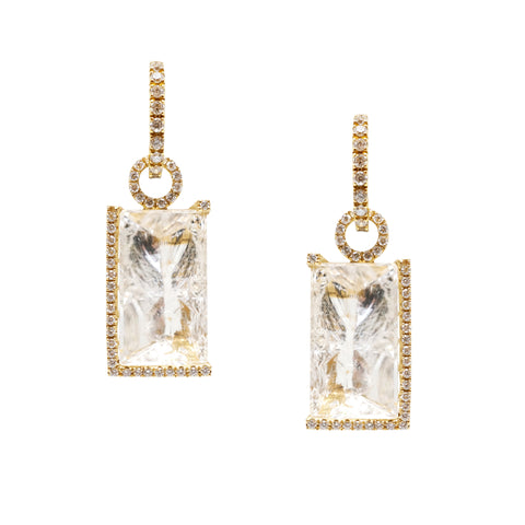 INFINITY ICE diamond earrings with diamond hoops