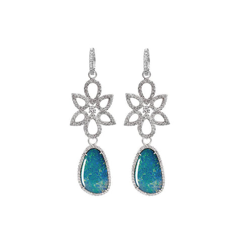 Mixology - Diamond and Opal Three in one earrings