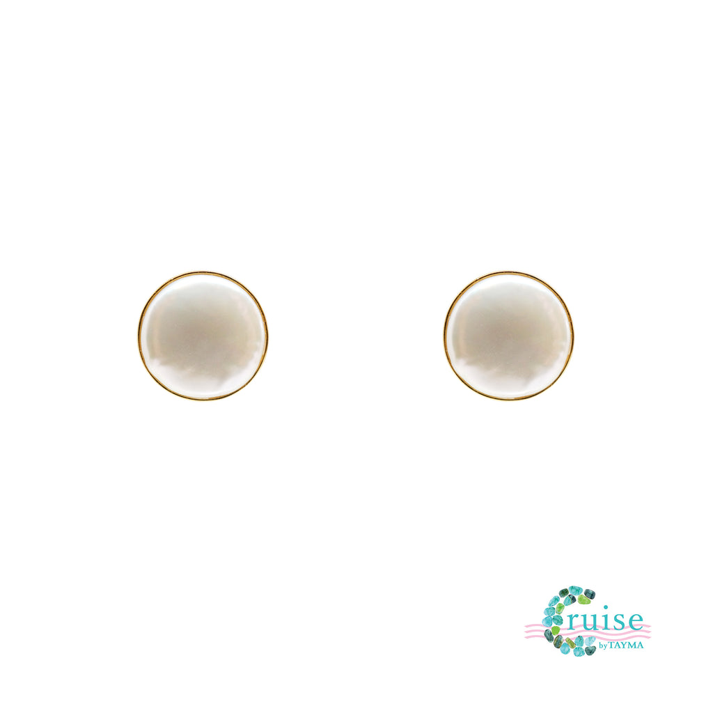 Penny pearl stud earrings