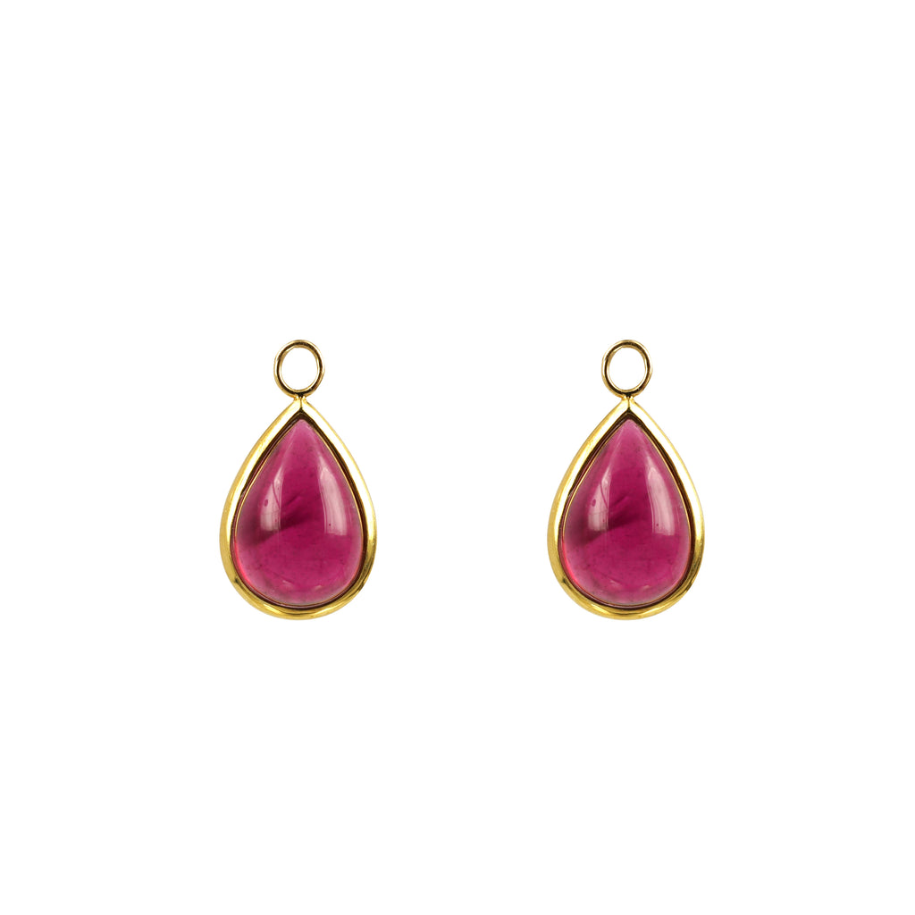 Rubellite Pear Shape Drops