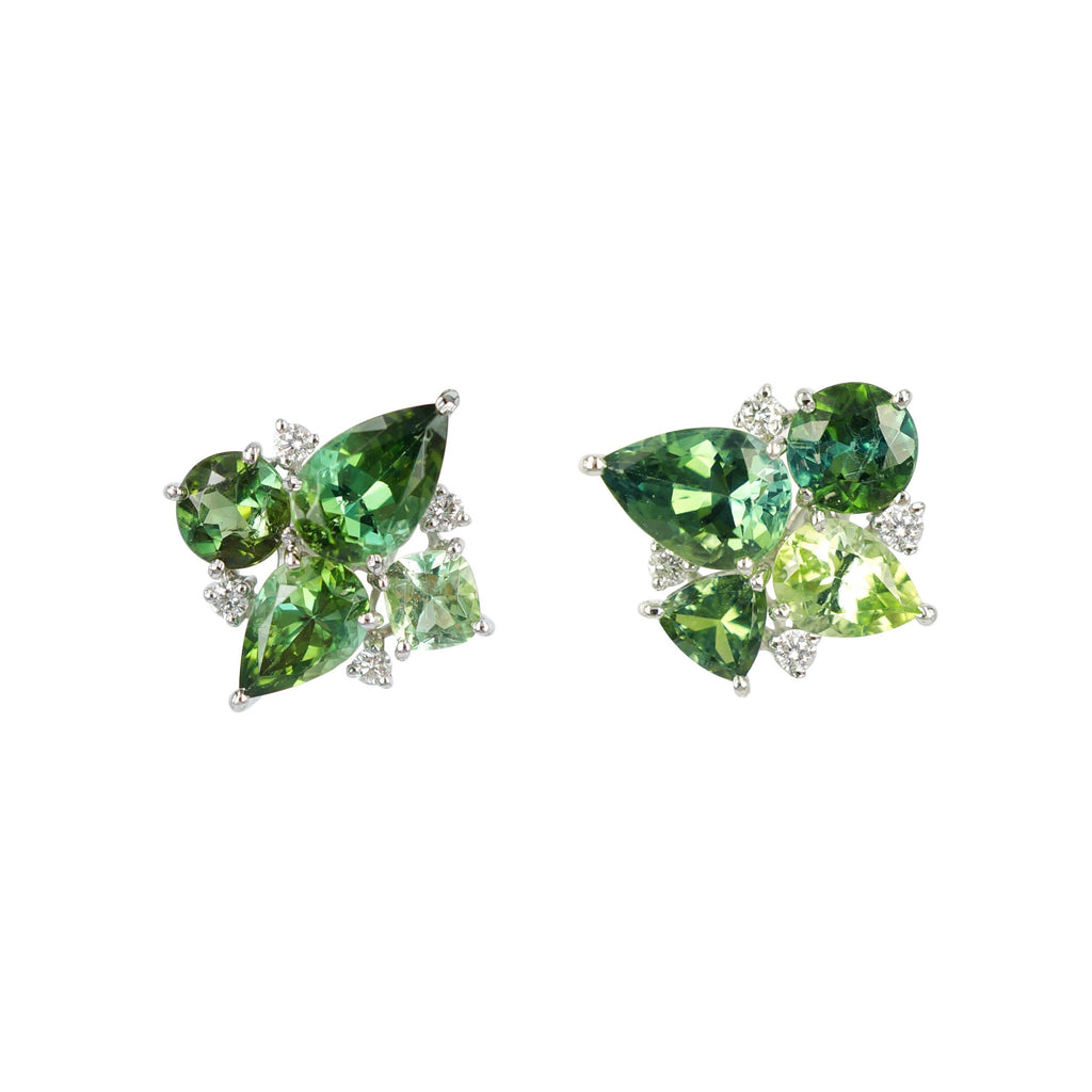 Lime and Apple Green Tourmaline Earrings