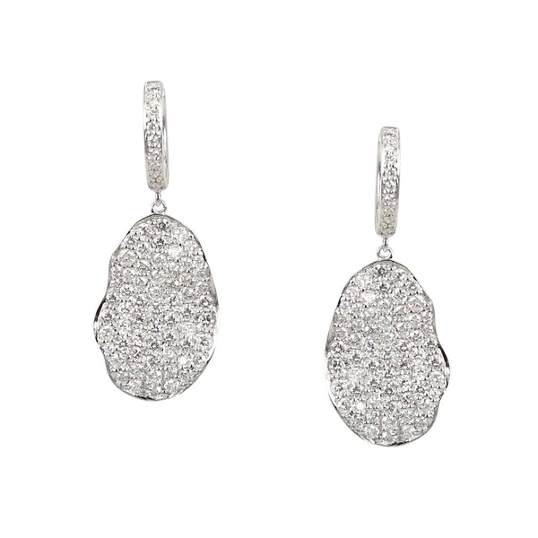 Lily Pad Diamond Earrings