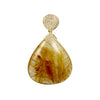 Angel hair Rutilated Quartz Diamond Pendant
