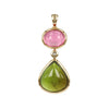 Cabochon Pink and Green Tourmaline Pendant