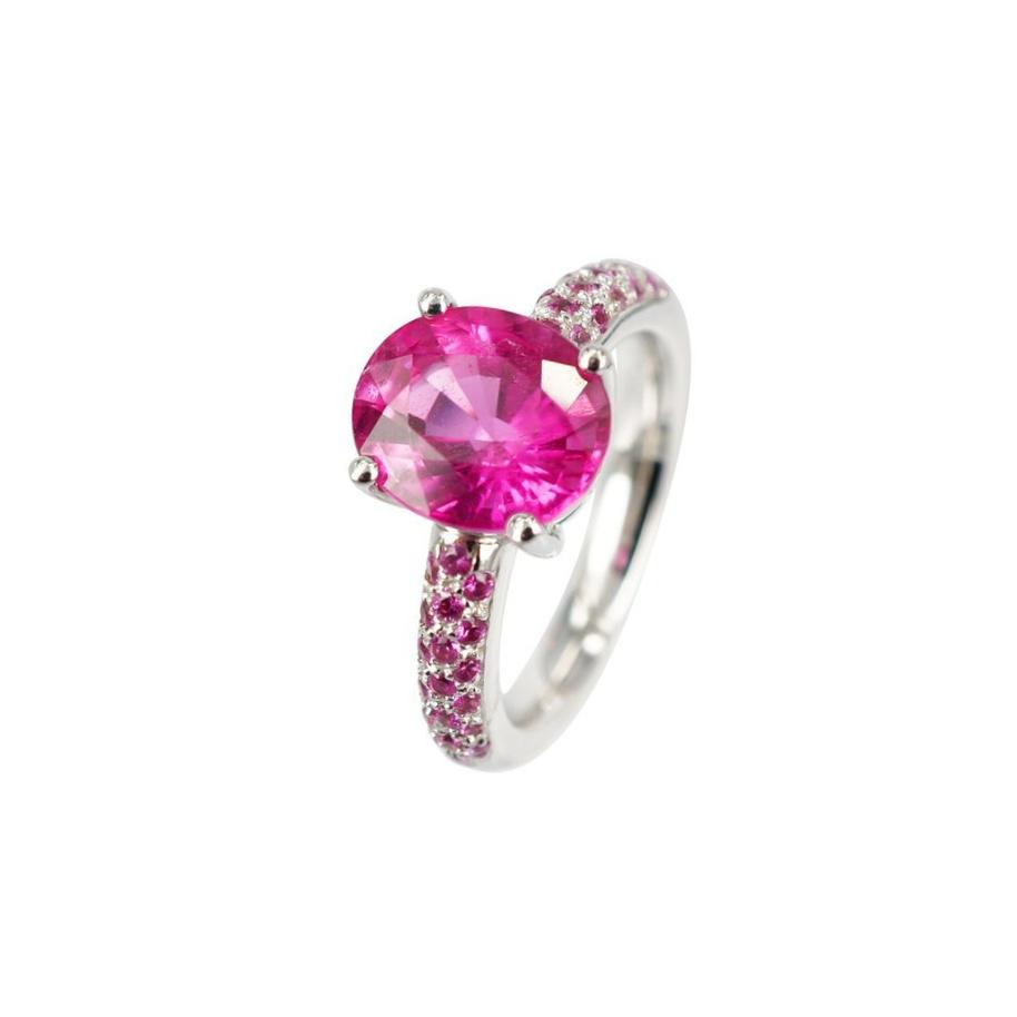 Rubellite and Pink Sapphire Ring