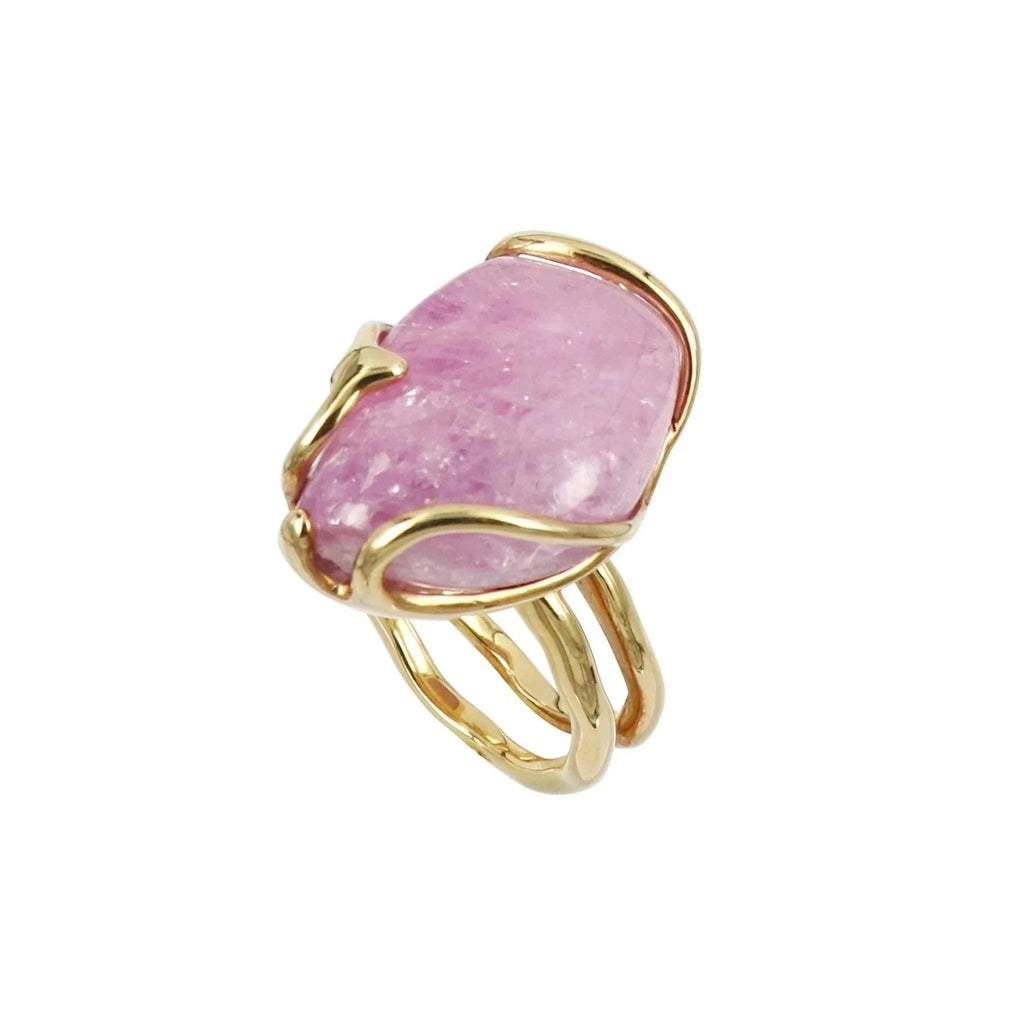Cabochon Pink Sapphire Ring