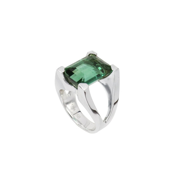 Green Tourmaline Mahjong Ring
