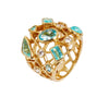 Paraiba tourmaline and diamond Cobweb ring