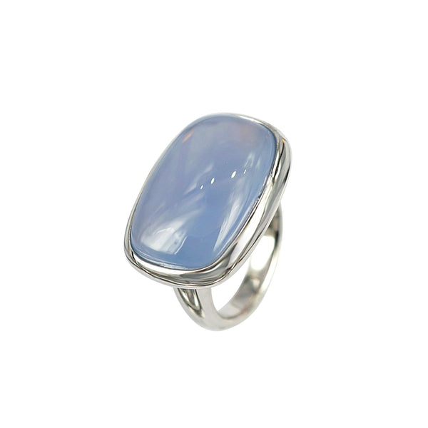 Cabochon Chalcedony ring