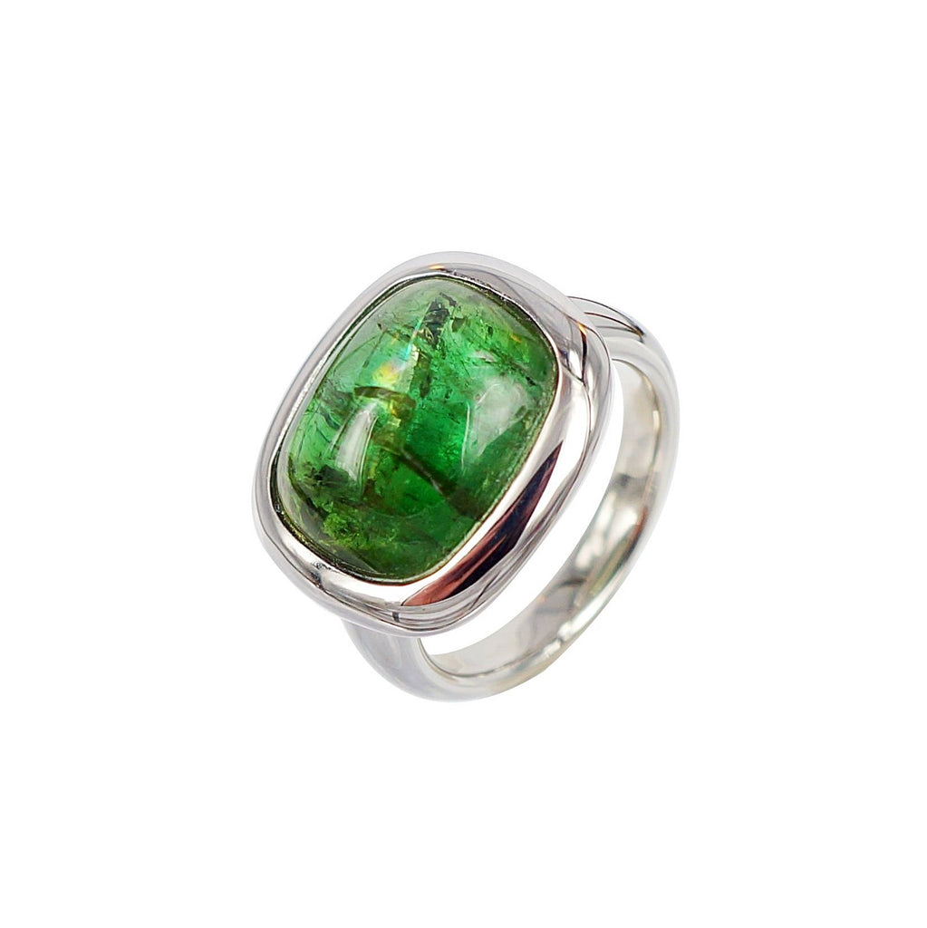 Cabochon Green Tourmaline Ring