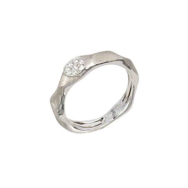 Lucky 8 Stacker ring with white diamonds