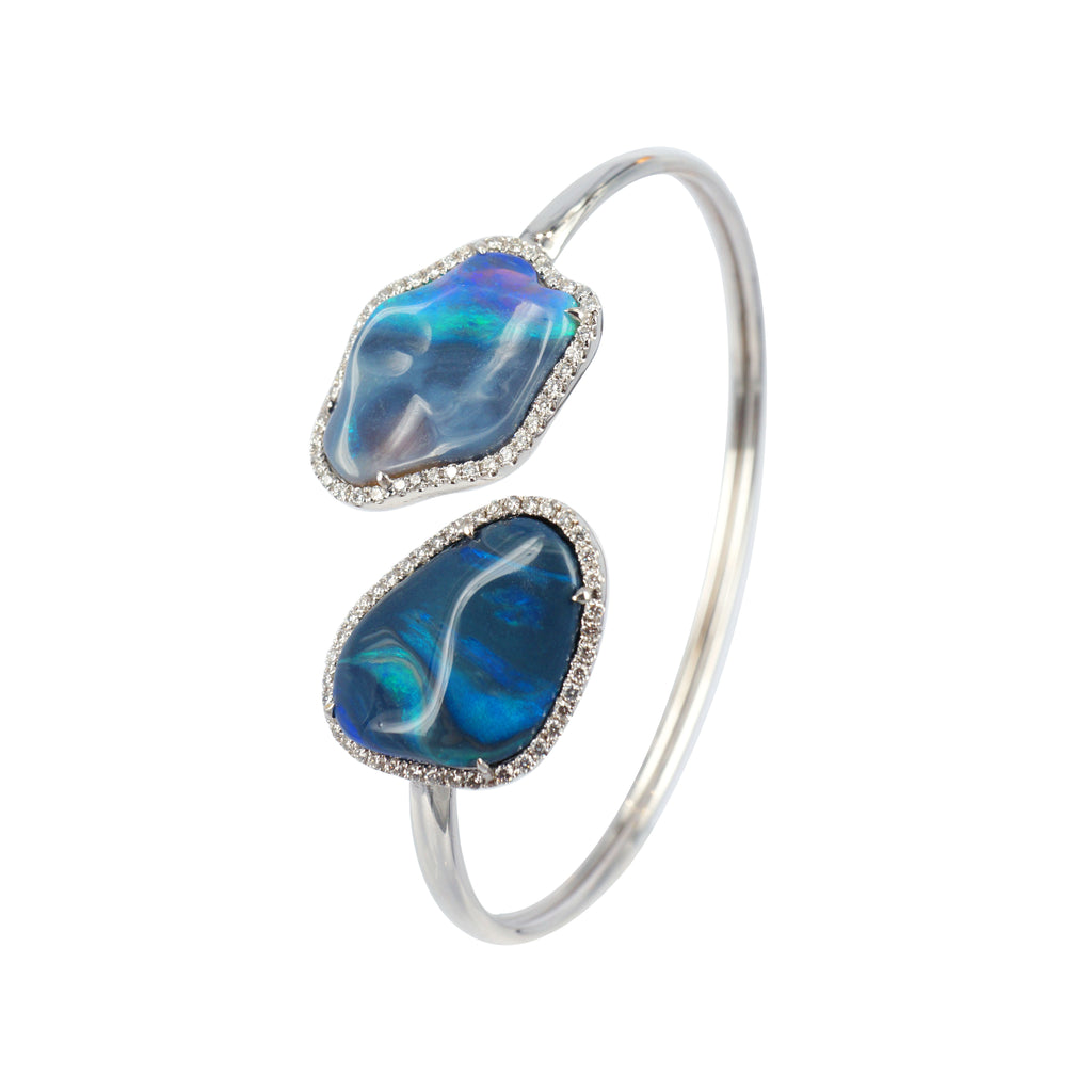 Black Opal diamond Bangle