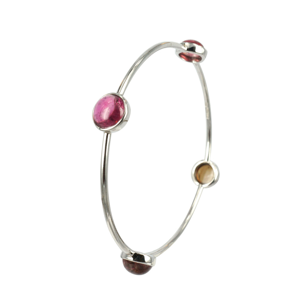 Multi colour gem bangle