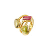 Multi colour tourmaline Ring