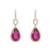 Rubellite Diamond Drops