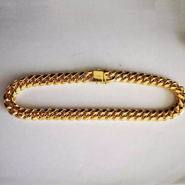 18k gold plated 16mm gold cuban chain ,18k gold plated men cuban choker , father day gift , chunky gold cuban