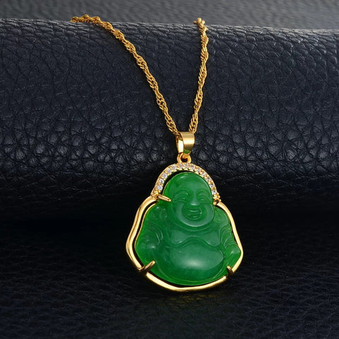 Jade Buddha necklace ,18k gold plated buddha necklace ,buddah necklace ,buhddah necklace,women buddha necklace