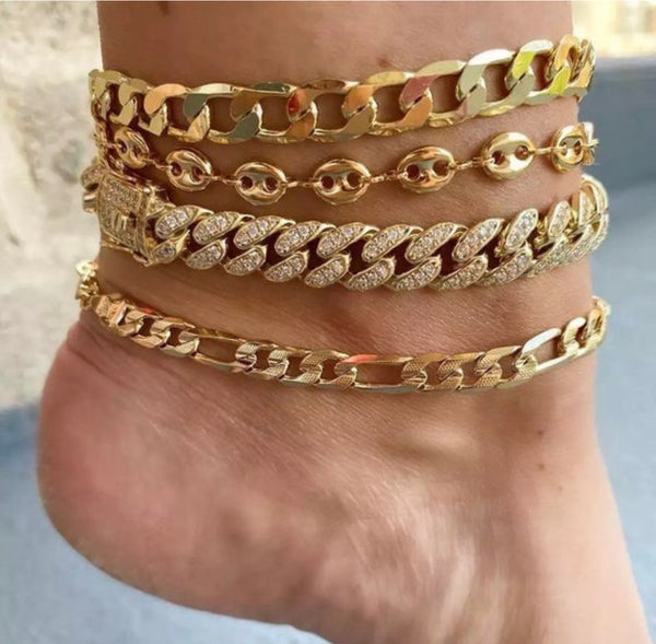 cuban anklet , 12mm Link anklet , gold anklet , men anklet, gift for girlfriend