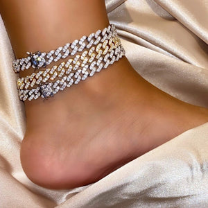 9mm cuban anklet