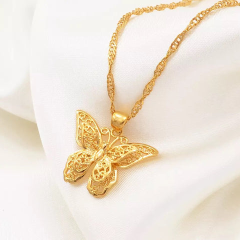 18k gold plated Butterfly Necklaces