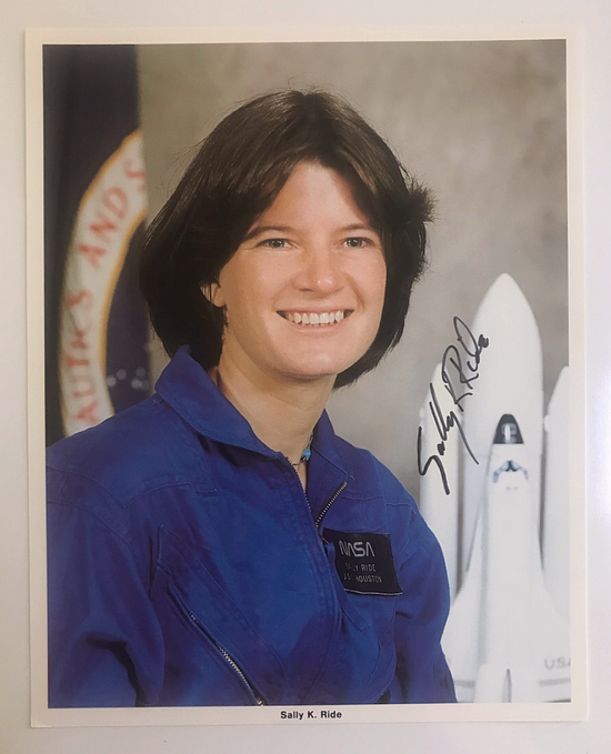 SALLY RIDE AUTOGRAPHED PHOTO