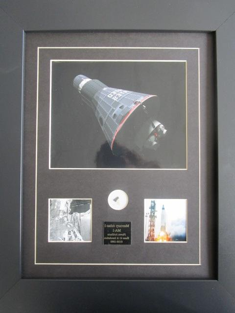 MERCURY ATLAS-1 FRAME PRESENTATION - Includes shingle fragment