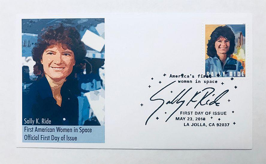 AMERICA'S FIRST WOMAN IN SPACE - SALLY RIDE COVER (version 1)