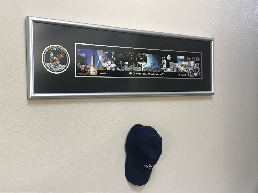 "'For all Mankind' Framed Panorama Signed by Buzz Aldrin 42"" x 12"""