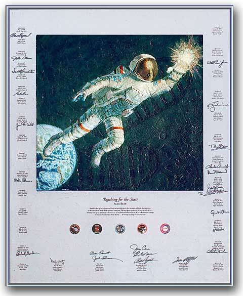 Reaching For The Stars' by Alan Bean and Signed by 24 Additional Astronauts!