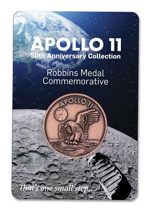 Keep a Part of Apollo 11 History With You - Robbins Medallions from The Space Store